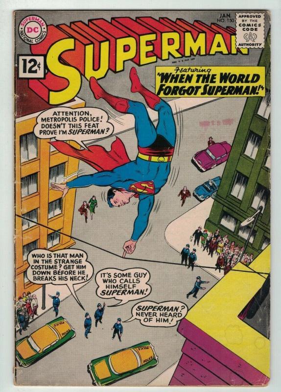 SUPERMAN (1939-1986) 150 VG Feb. 1962