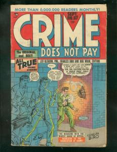 CRIME DOES NOT PAY #67 1948-CHARLES BIRO-LIVING BURIAL  VG