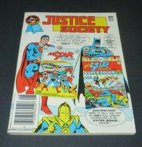 1980 Justice Society #3 VF/NM DC Blue Ribbon Digest Superman Batman Super Squad