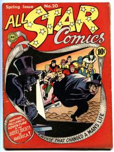 All Star Comics #20 dr. fate/sandman film cover DC fn