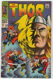 Thor, the Mighty #158 (Nov-68) FN/VF+ High-Grade Thor