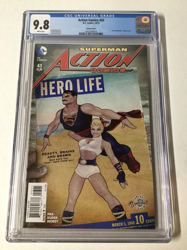 Action Comics 43 Cgc 9.8 Bombshell Variant