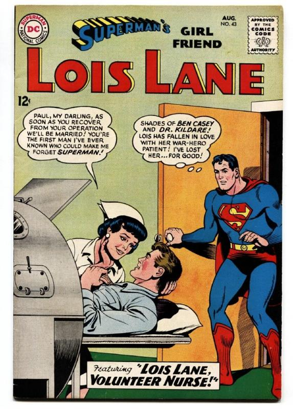 Supermans girl friend lois lane 43 comic book 1963 nurse issue supermans girl friend lois lane 43 comic book 1963 nurse issue altavistaventures Choice Image