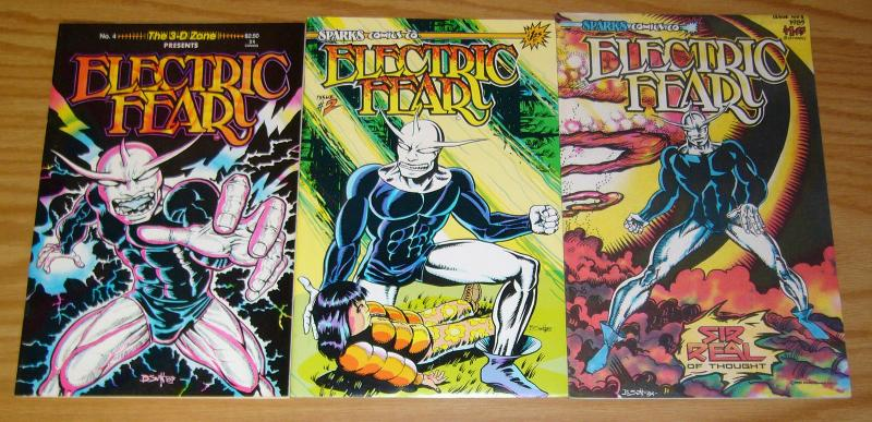 Electric Fear #1-2 VF/NM complete series + 3-D Zone #4 brian swift comics set