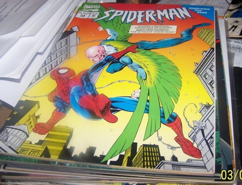 SPIDER-MAN COMIC # 54 FLIP BOOK SCARLET SPIDER  BEN REILLY VULTURE CLONE