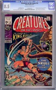 Creatures on the Loose #10 (Marvel, 1971) CGC 8.5 - KEY 1st Kull