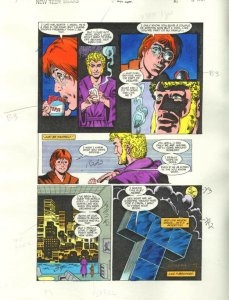 NEW TEEN TITANS #47-ORIGINAL D.C. PRODUCTION ART-PG 12 VG