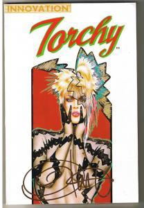 TORCHY, tpb, Signed by Olivia De Berardinis, VF/NM, Bill Ward, 1992, Blonde B