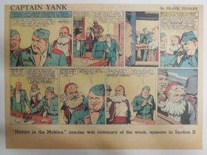 Captain Yank Sunday by Frank Tinsley from 8/8/1943 Size: 11 x 15 inches