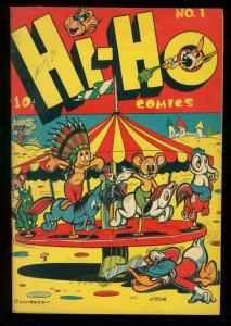 HI-HO COMICS #1 1946? LB COLE MERRY-GO-ROUND COVER DRUG VF-