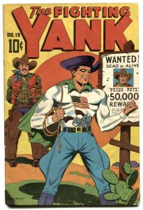 Fighting Yank #19 1947- SCHOMBURG cover- Golden Age G/VG