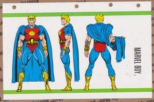 Official Handbook of the Marvel Universe Sheet- Marvel Boy