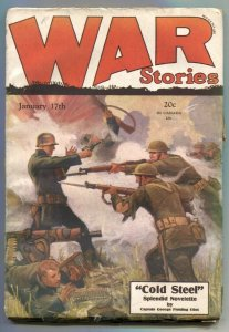 War Stories Pulp January 17 1929- Cold Steel VG-