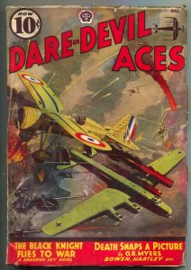 Dare-devil Aces Pulp October 1938- Black Knight Flies to War