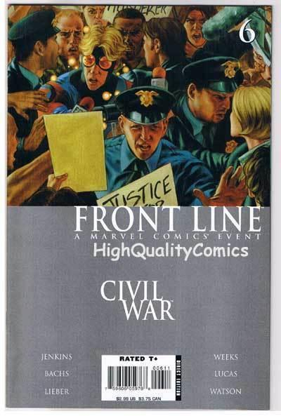 CIVIL WAR : FRONT LINE #6, NM-, Jenkins, Lieber, Bachs, 2006, more in store
