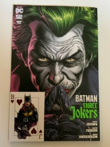 BATMAN THREE JOKERS #2 SET OF FIVE  COVERS + 5 PLAYING CARDS NM.