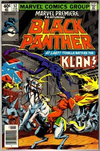 MARVEL PREMIERE 52 FN  Feb. 1980 BLACK PANTHER/KLAN