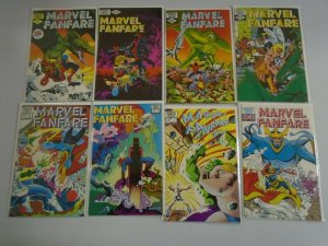 Marvel Fanfare lot 46 different from #1-59 8.0 VF (1982-91 1st Series)