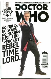 DOCTOR WHO #1 B, NM, 12th, Tardis, 2014, Titan, 1st, more DW in store, Sci-fi