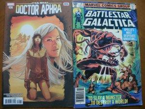 2 Marvel Comic: NEW Mint DOCTOR APHRA #36 & BATTLESTAR GALACTICA #21 (1980)