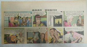 (52) Mary Worth Sunday Pages by Saunders 1947 Third Full Page 7.5 x 15 inches