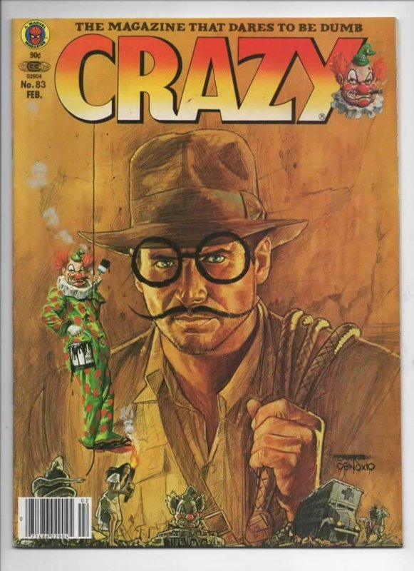 CRAZY #83 Magazine, FN+, Raider of the lost Ark, Harrison Ford 1973 1982, Marvel