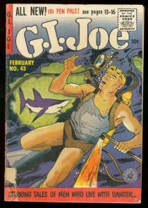 G.I. JOE #43 ZIFF DAVIS 1956 SHARK COVER WAR ISSUE G/VG
