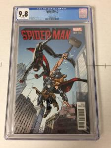 Spider-man 1 Bagley Variant (2016) Cgc 9.8 White Pages