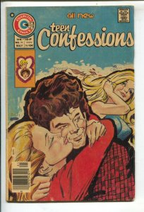 Teen Confessions #94 1976-Charlton-25¢ cover price-motorcycle stories-low dis...