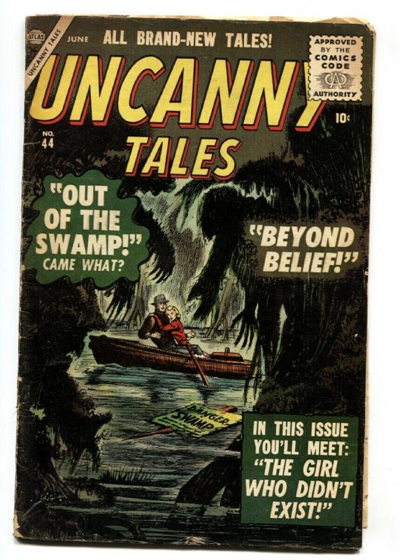 Uncanny Tales #44 1956- Out of the Swamp- Atlas Horror VG-