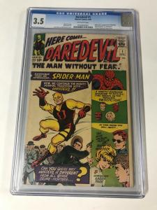 Daredevil 1 Cgc 3.5 Ow Pages Marvel Silver Age 1st Appearance