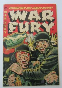 War Fury #3 Don Heck Cover 1953 Golden Age Comic Media VG