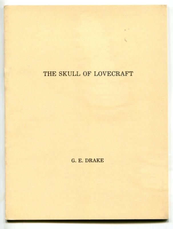 H P Lovecraft The SKULL OF LOVECRAFT Booklet, NM, limited #82 / 200, 1975,Goblin