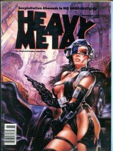 HEAVY METAL September November Winter 1989, Prado, Ortiz, Torres 3 issues in all