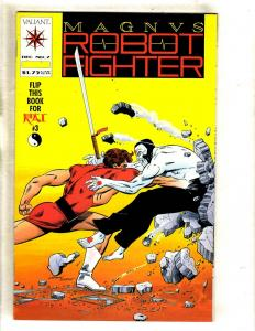Magnus Robot Fighter # 7 NM- Valiant Comic Book WITH CARDS / Coupon RAI # 3 FM3