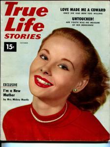 True Life Stories #1 10/1953Mrs Mickey Mantle-1st issue-pulp thrills-VF