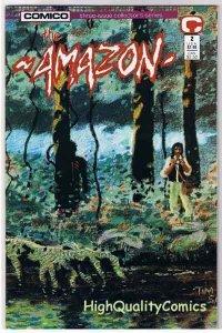 AMAZON #2, NM, Tim Sale, Steve Seagle, Jungle, 1989