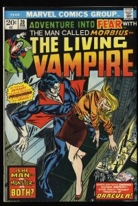 Fear #20 VF- 7.5 1st Morbius in title!