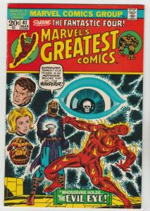 Marvel's Greatest Comics #41 (Mar-73) NM- High-Grade Fantastic Four, Mr. Fant...