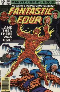 Fantastic Four (Vol. 1) #214 (Newsstand) VF; Marvel   save on shipping - details