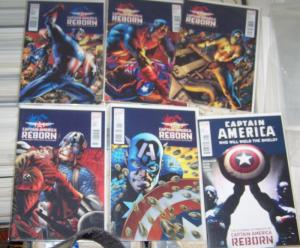 CAPTAIN AMERICA REBORN 1 2 3 4 5 + WHO WILL WIEILD THE SHIELD #1 MARVEL 2010