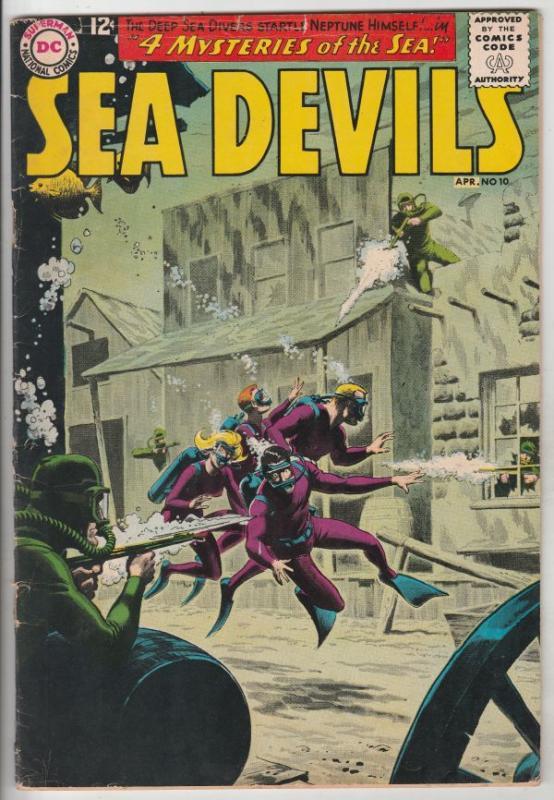 Sea Devils #10 (Apr-63) VG/FN Mid-Grade Sea Devils (Dane Dorrence, Biff Baile...