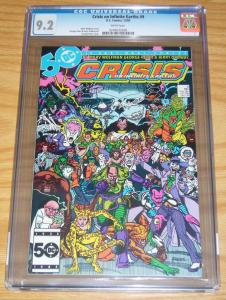 Crisis on Infinite Earths #9 CGC 9.2 marv wolfman - george perez - dc comics