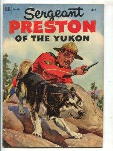 Sergeant Preston of The Yukon-Four Color Comics #397 1952-Dell-Morris Gollub ...