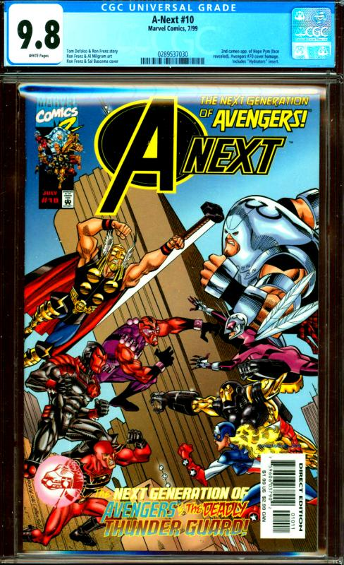A-Next #10 CGC Graded 9.8 2nd Hope Pym, Avengers #70 Homage Cover