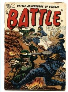 Battle #23 1953 Violent War comic book- Atlas comics- WWII VG
