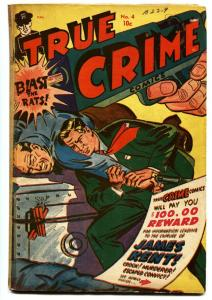 True Crime #4 1948-Morphine / dope-Jack Cole-Canadian edition-rare Golden-Age