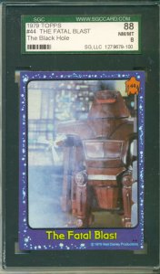 1979 The Black Hole TOPPS Movie Trading Card #44 The Fatal Blast SGC 88 NM/MT 8