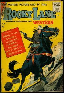 ROCKY LANE WESTERN #75 1957 CHARLTON COMICS BLACK JACK G
