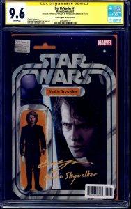 Darth Vader #1 ACTION FIGURE VARIANT CGC SS 9.6 signed Hayden Christensen ANAKIN